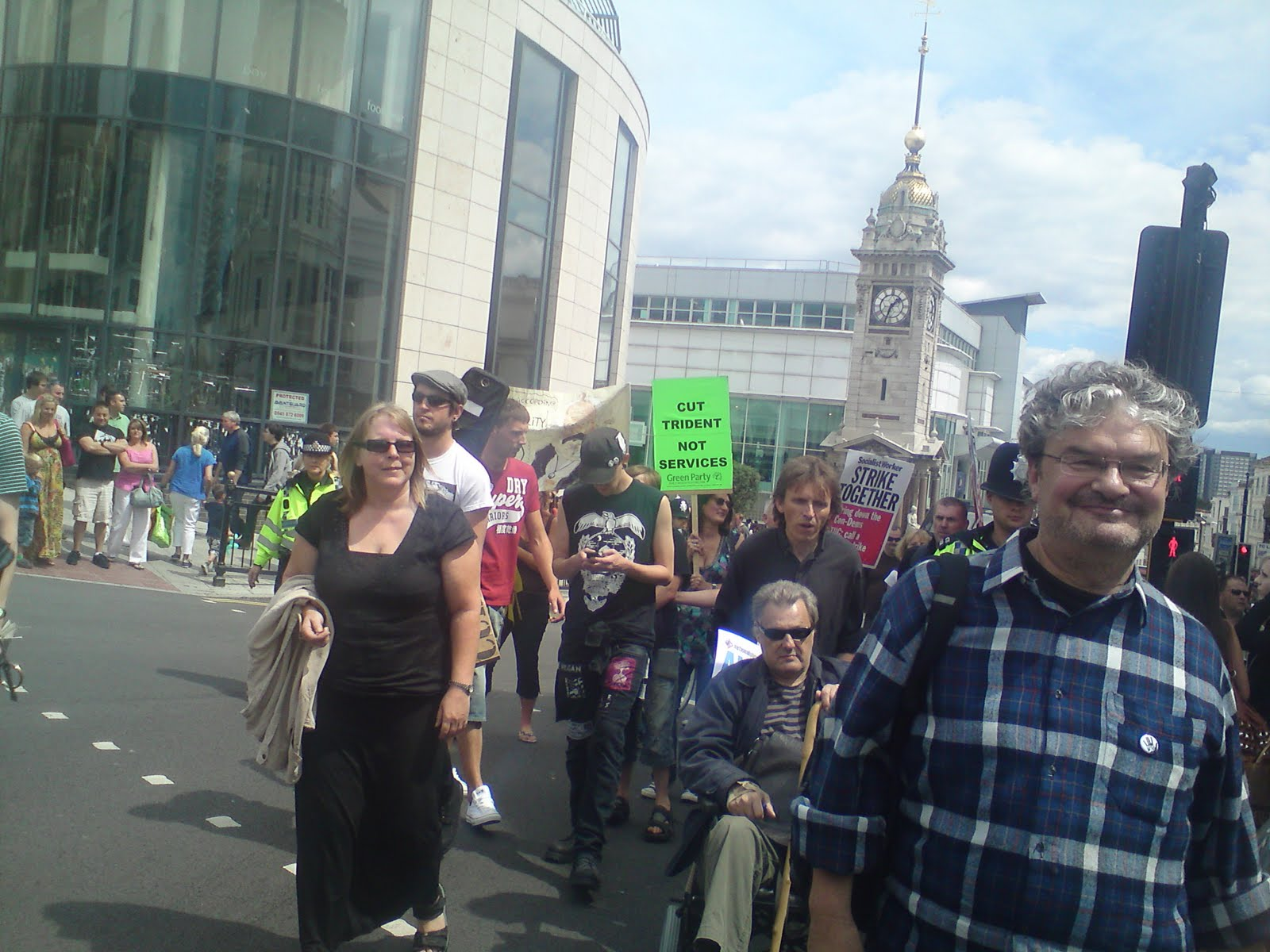 DPAC protestors march in Brighton against cuts