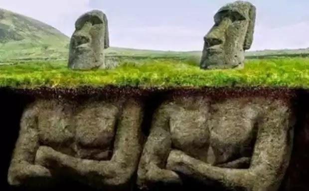 Το Μυστήριο με τα Αγάλματα στο Νησί του Πάσχα: Δείτε ΤΙ βρήκαν οι Επιστήμονες κάτω από τα Κεφάλια και έπαθαν ΣΟΚ..!