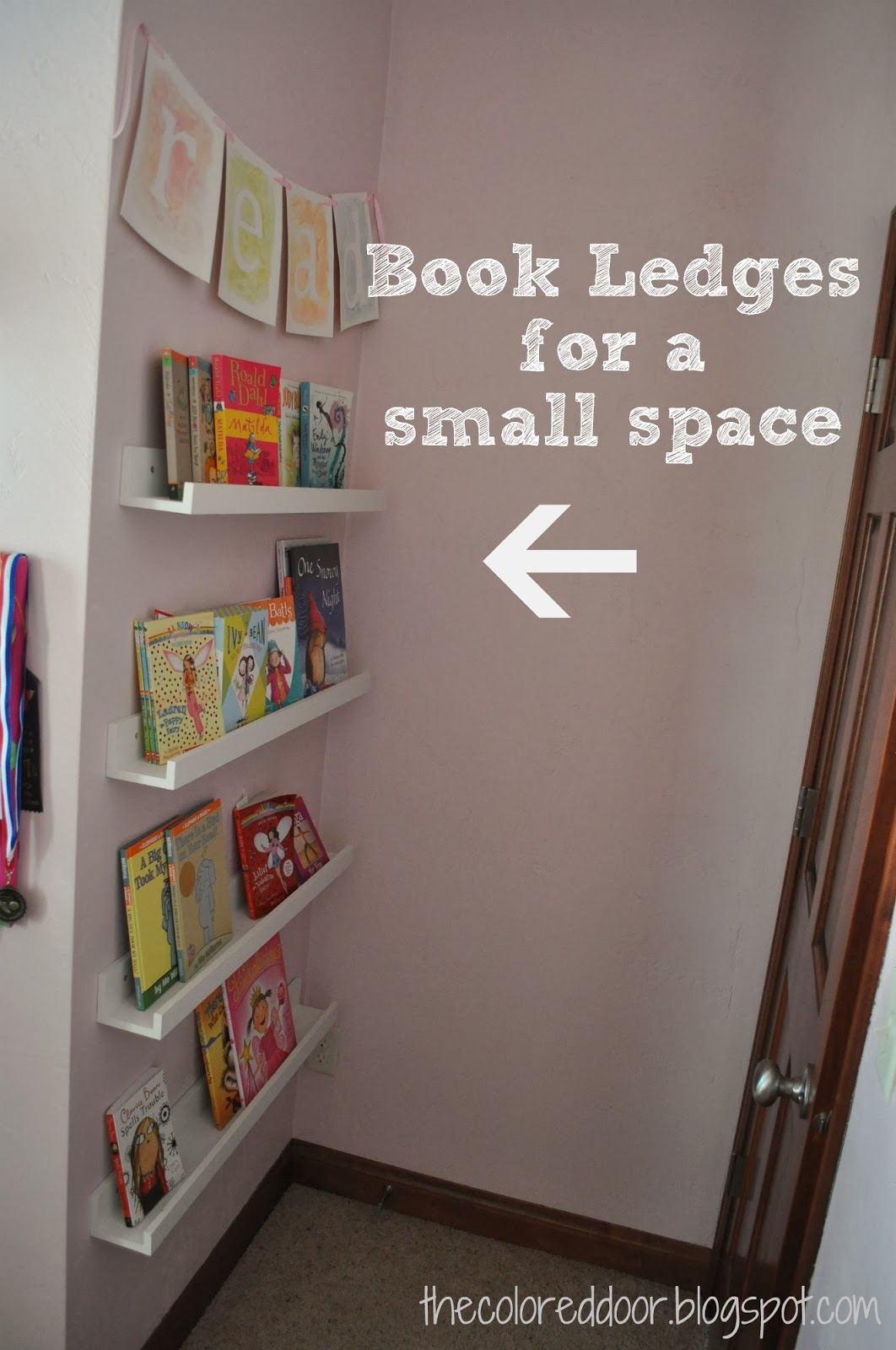 book ledges - the colored door