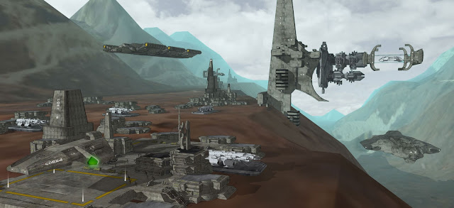 fantasy spaceships alien world