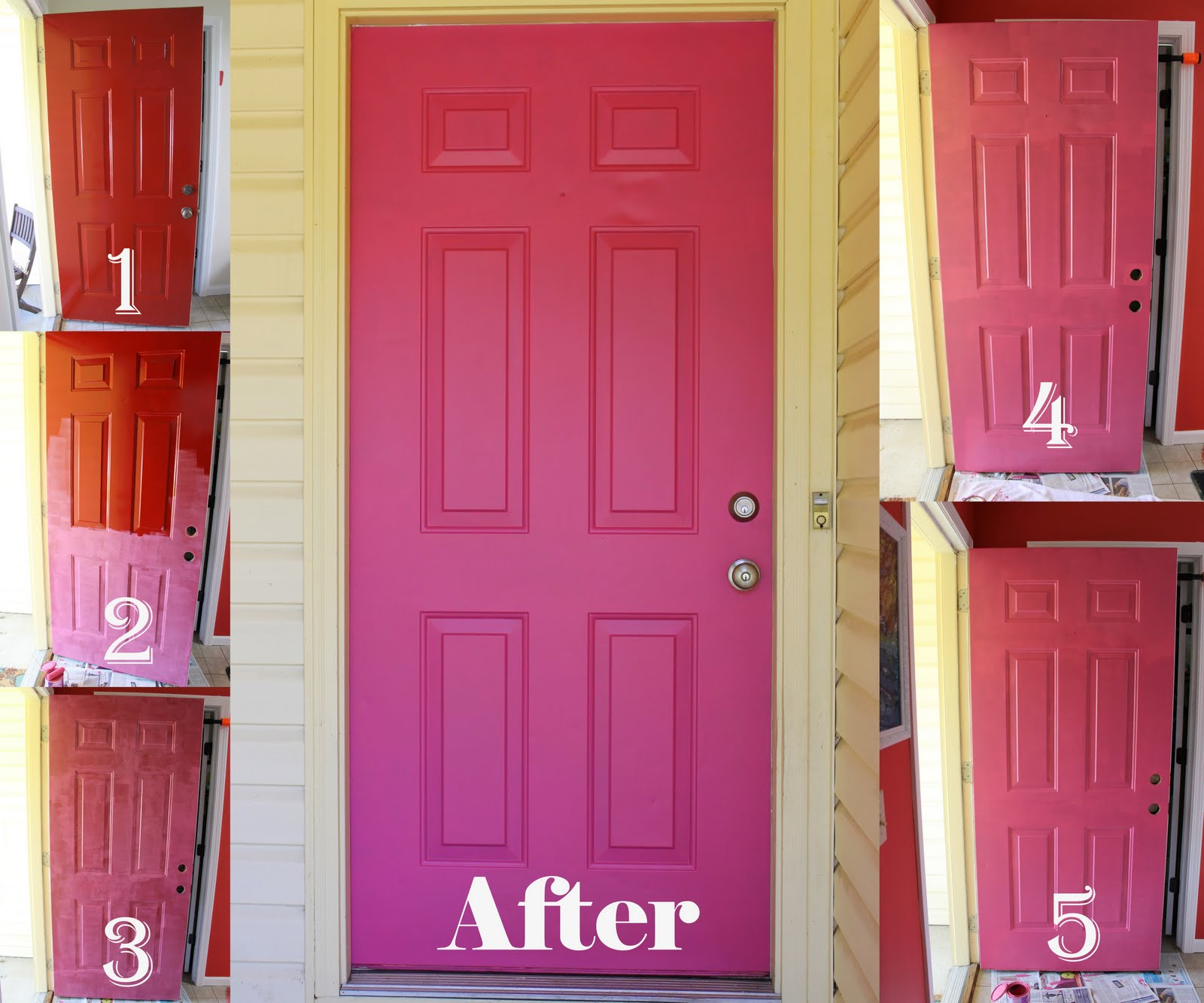 I Have Been Talking About Painting My Front Door Pink For Literally Months.  Well The Day Has Come. And I Couldnu0027t Be Happier.