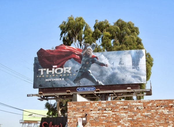 Thor Dark World extension movie billboard