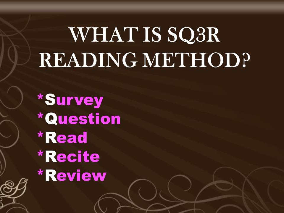 An Introduction to HE: SQ3R