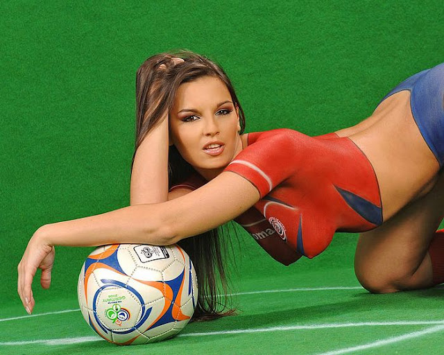 body paint gallery on the participant countries of the world cup