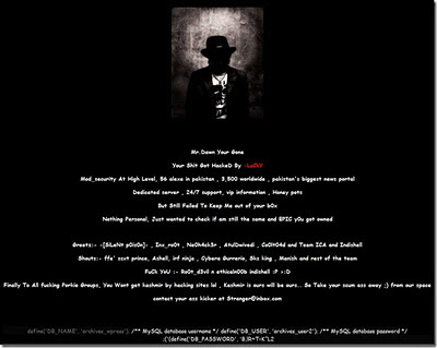 Down.com Hacked Indian Group