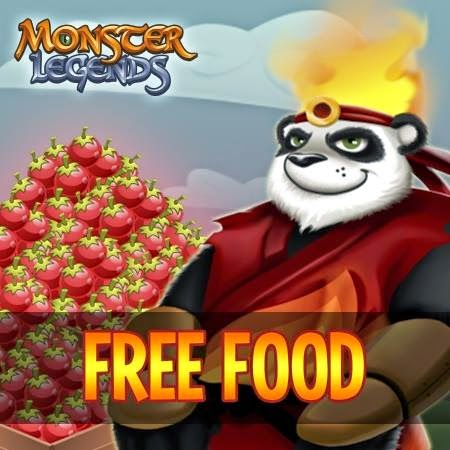 gana comida gratis en monster legends