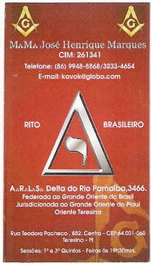 A.'.R.'.L.'.S.'. Delta do Rio Parnaíba nº 3.466 - GOB-PI
