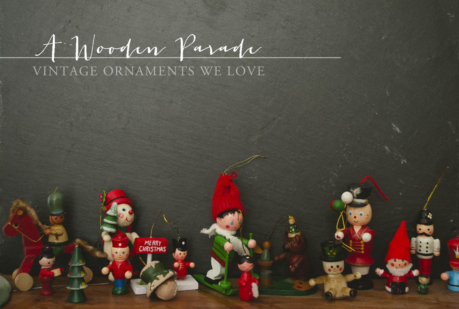 christmas decor vintage wooden ornaments - Wooden Christmas Ornaments