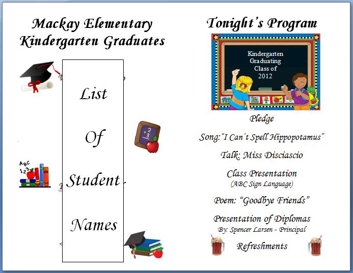 preschool graduation program templates free