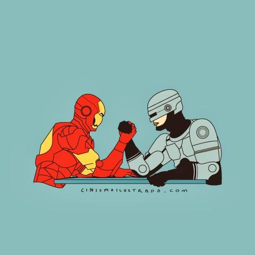 железный человек против робокопа