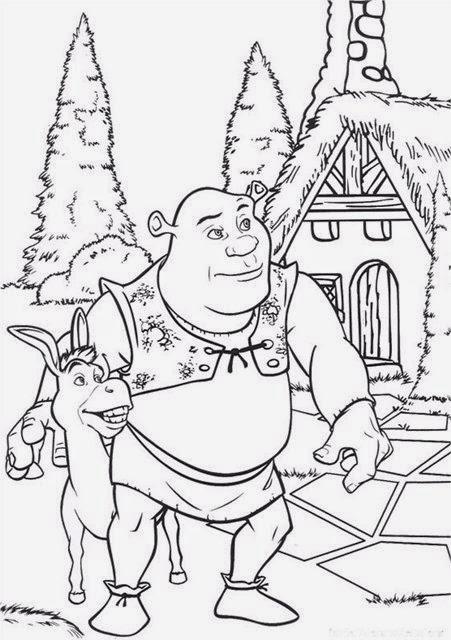 Kids Under 7: Shrek coloring pages