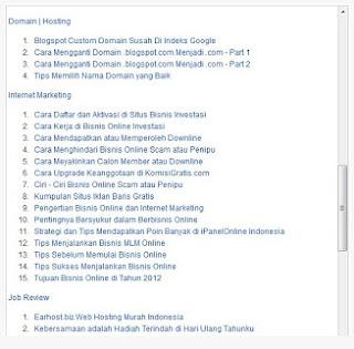 Membuat daftar isi blog keren otomatis