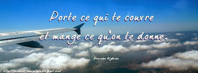Couverture facebook originale proverbe