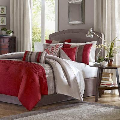 king size comforter sets red