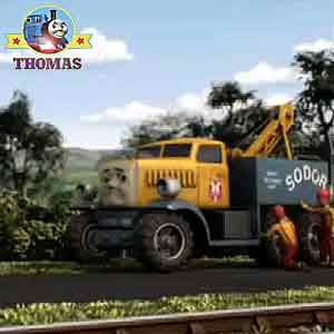 Thomas the train Sodor heavy recovery road truck BRK 03 Butch the breakdown vehicle rescue squad