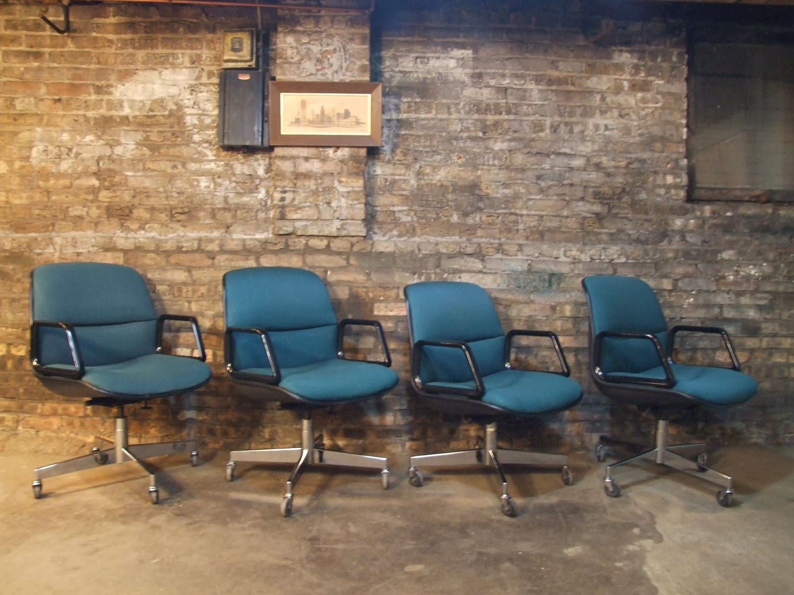 Mid Century Chicago Set of 4 AllSteel Desk Chairs