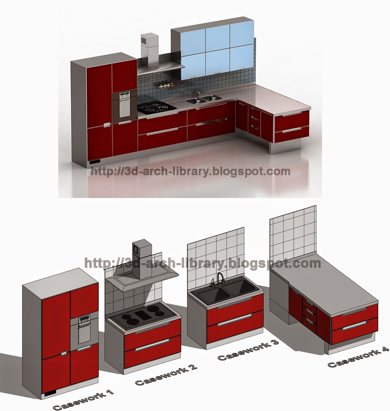 Casework 001 Kitchen Furniture Revit Library Revit Arch Library