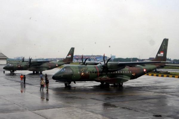 CN295 TNI-AU. PROKIMAL ONLINE Kotabumi Lampung Utara