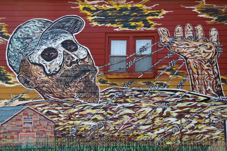 Public art in chicago pilsen murals hector duarte 39 s house for Chicago mural artist