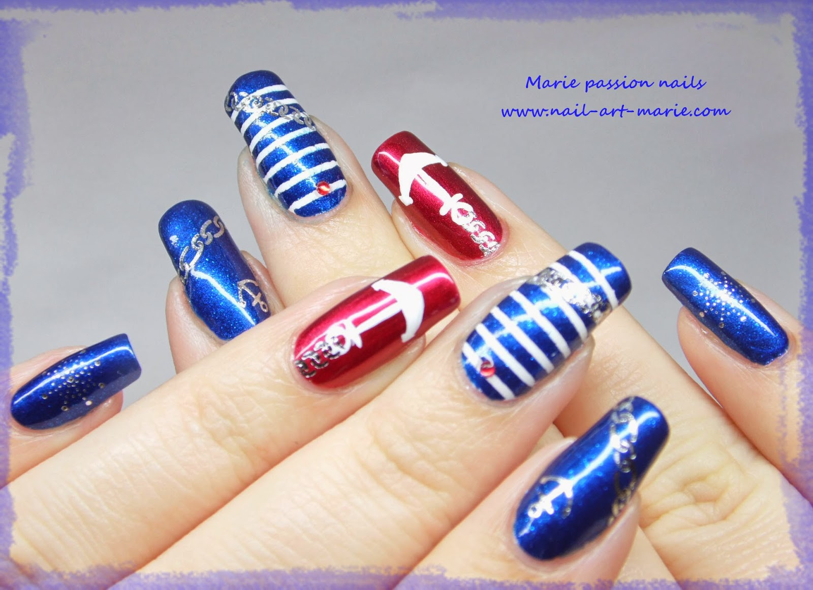 Nail art marin7
