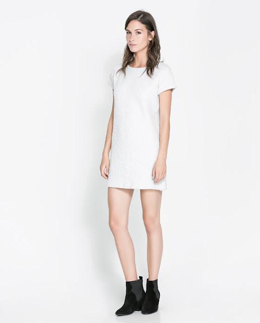 beyaz düz kesim dantelli ultra kısa elbise , mini elbise