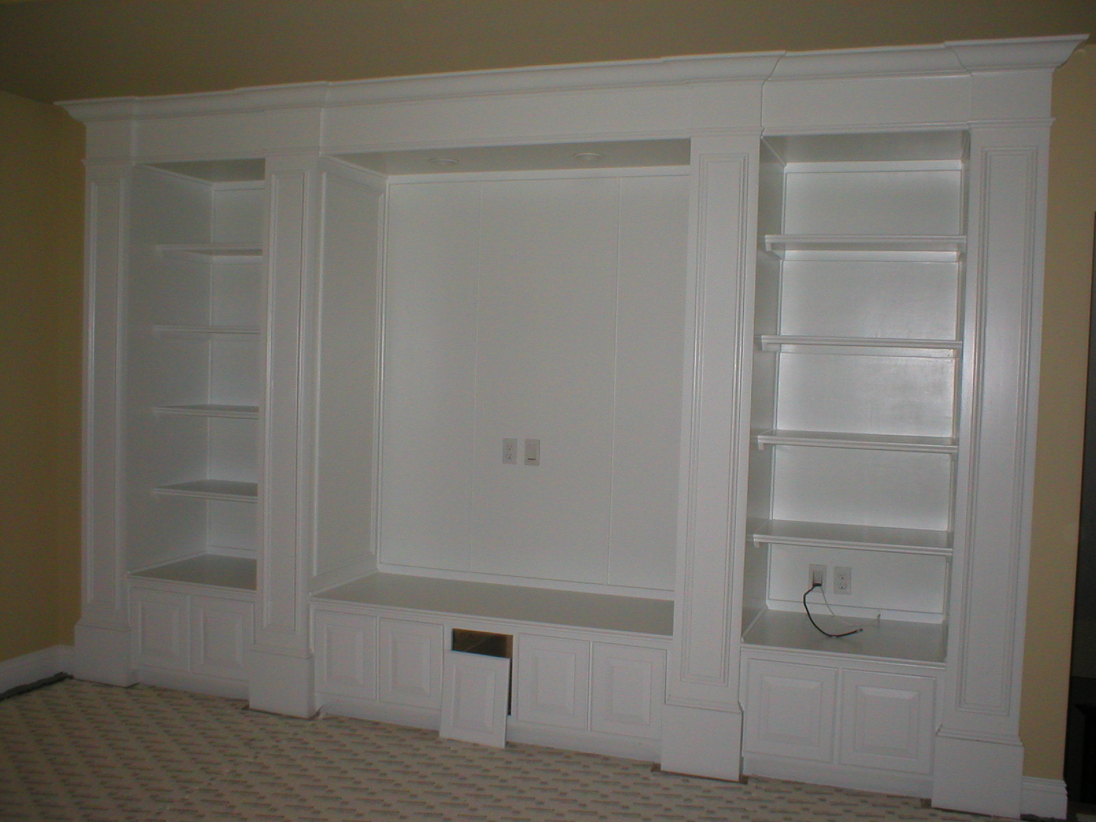 Ferguson Finishes Llc Built In Entertainment Center Lockers