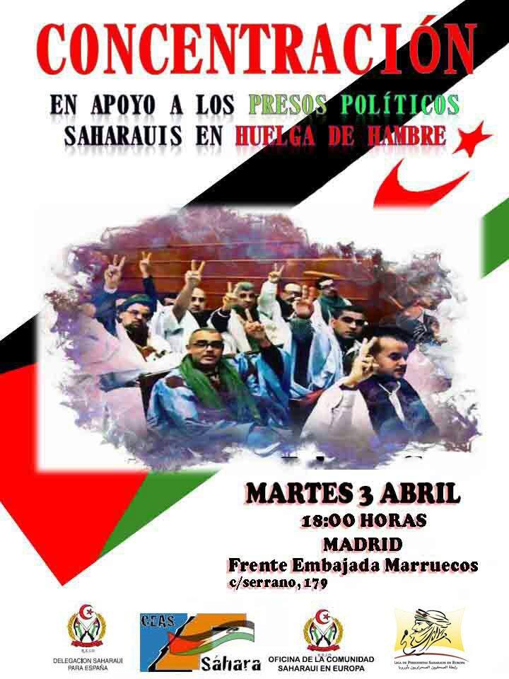 3 de Abril Concentración Solidaridad presos Saharauis