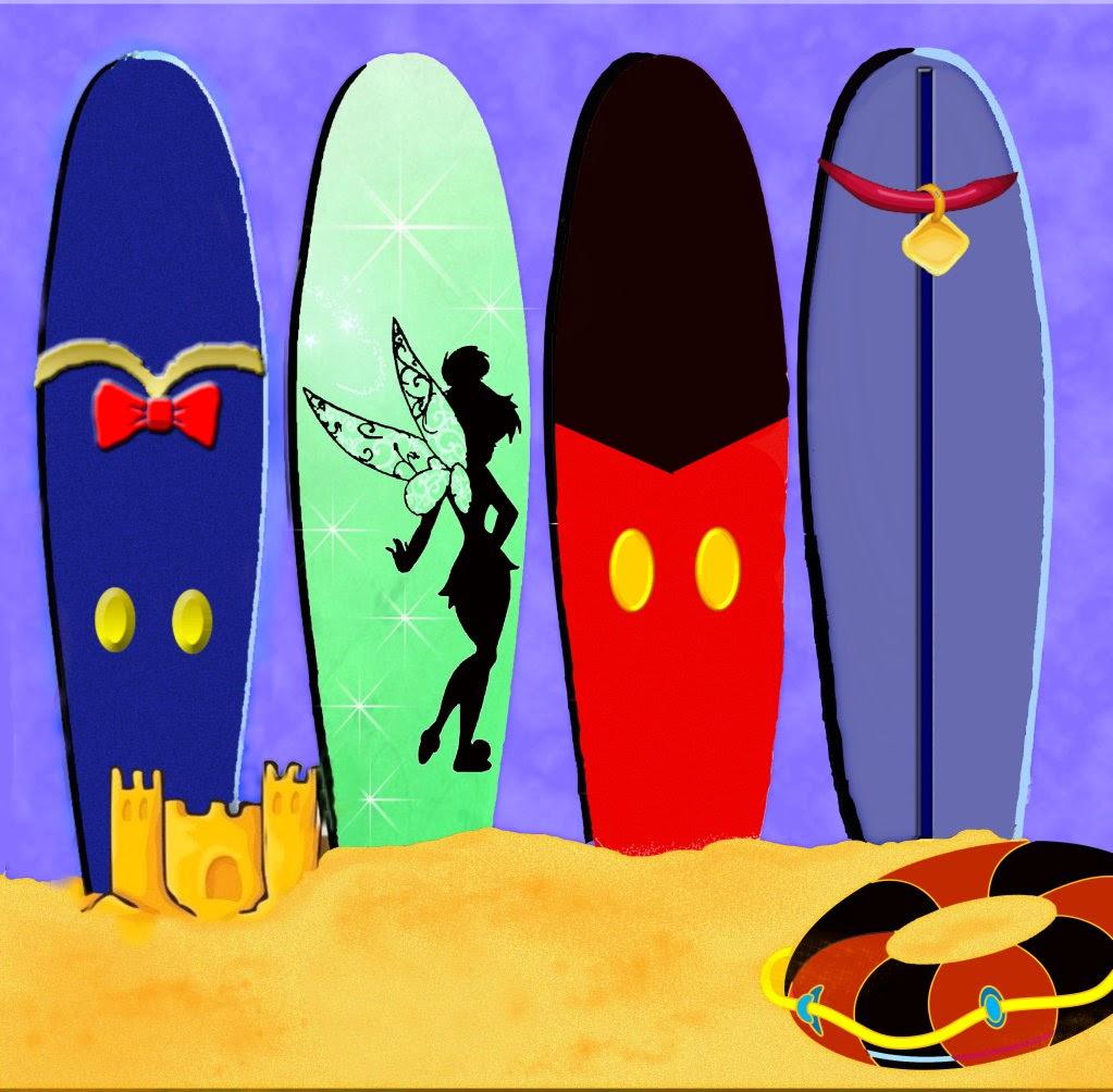 Tablas de surf a lo disney ideas y material gratis para - Tablas de surf decorativas ...