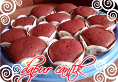 Gambar Masakan Cupcake Red Velvet Dapur Cantik