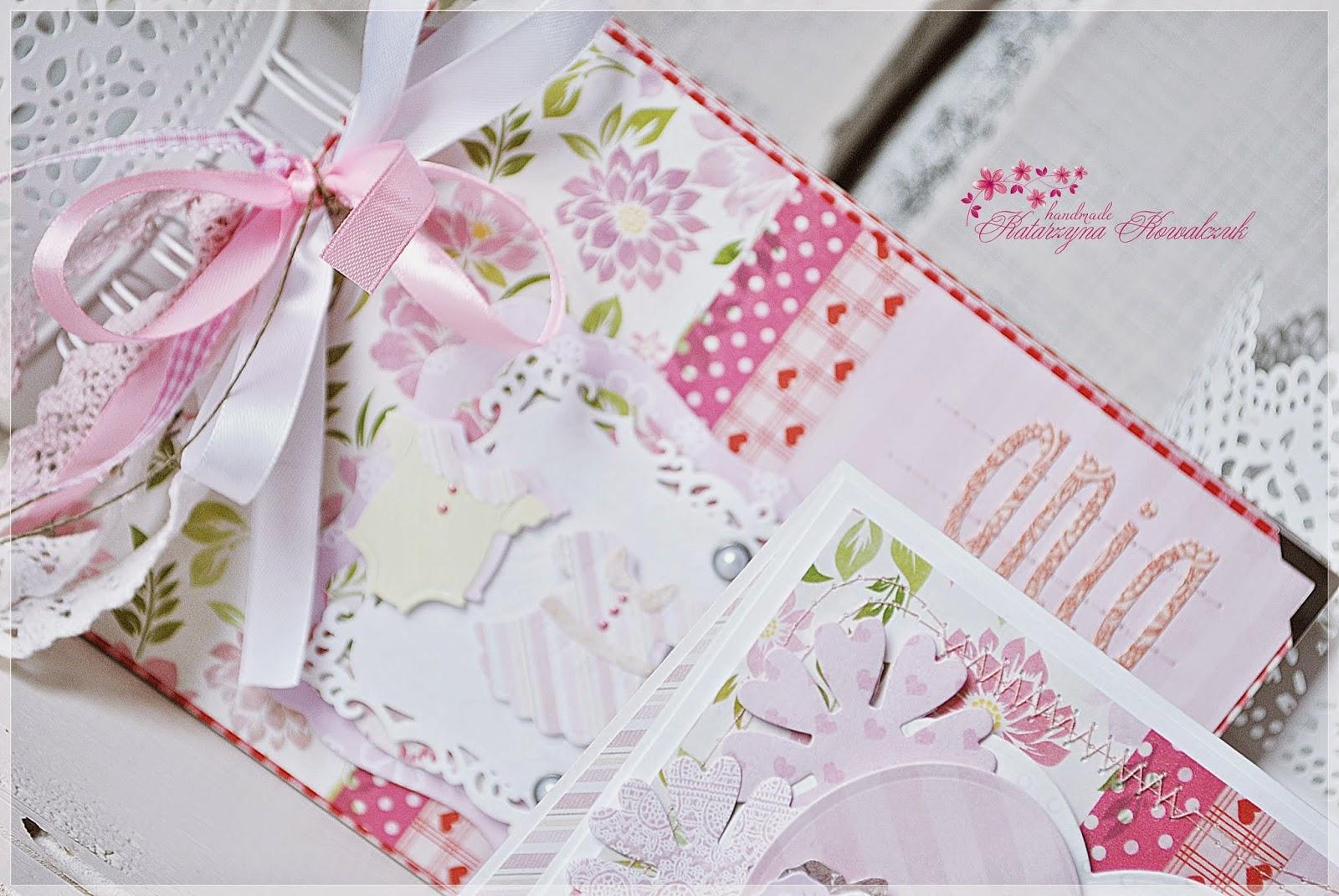 kartka z okazji narodzin dziecka scrapbooking cottage cutz