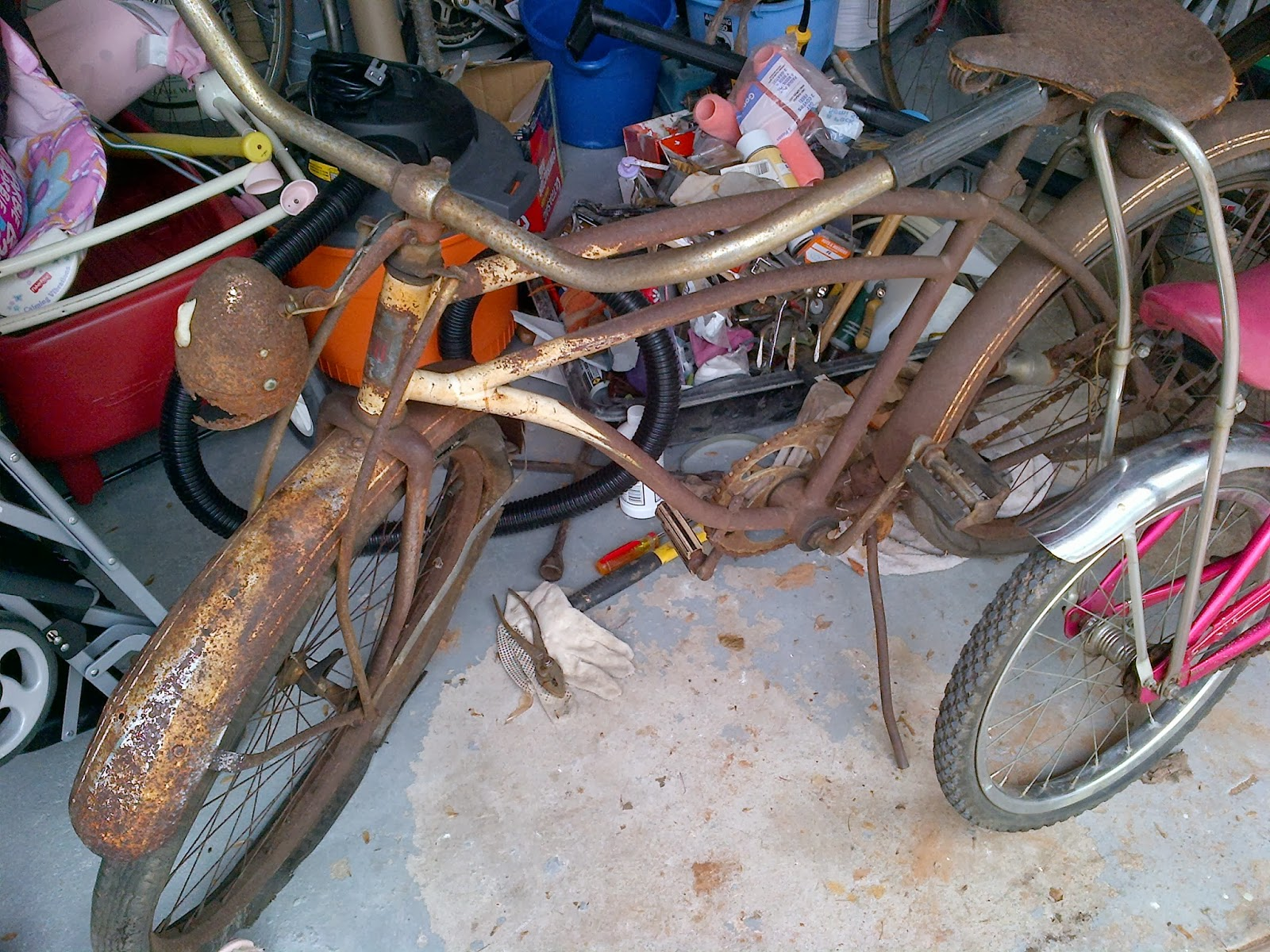 how to clean up a rusty bike