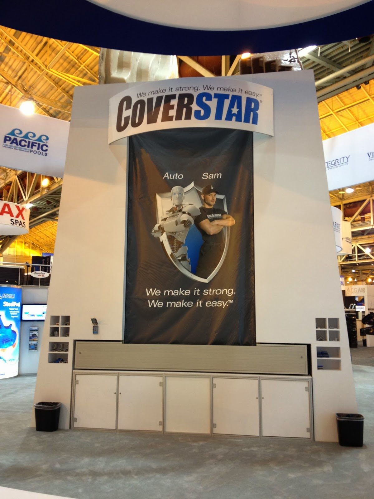 Coverstar safety swimming pool covers for automatic and for Pool expo show