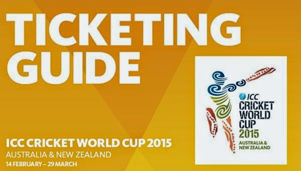 Ticketing guide to book tickets for 2015 ICC cricket world cup