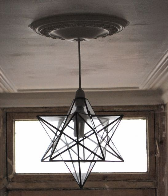 glass star lantern shade