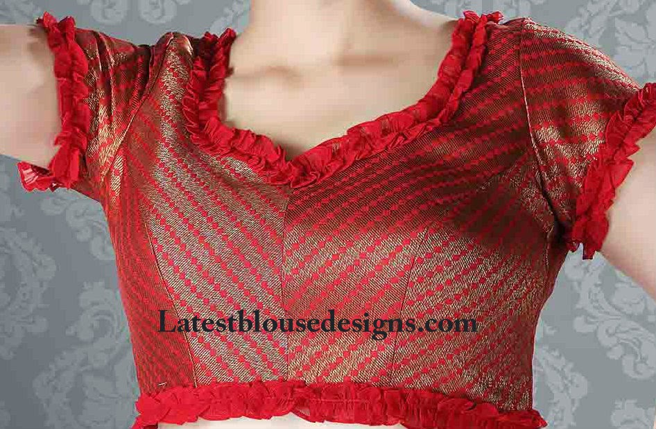 cocktail saree blouses