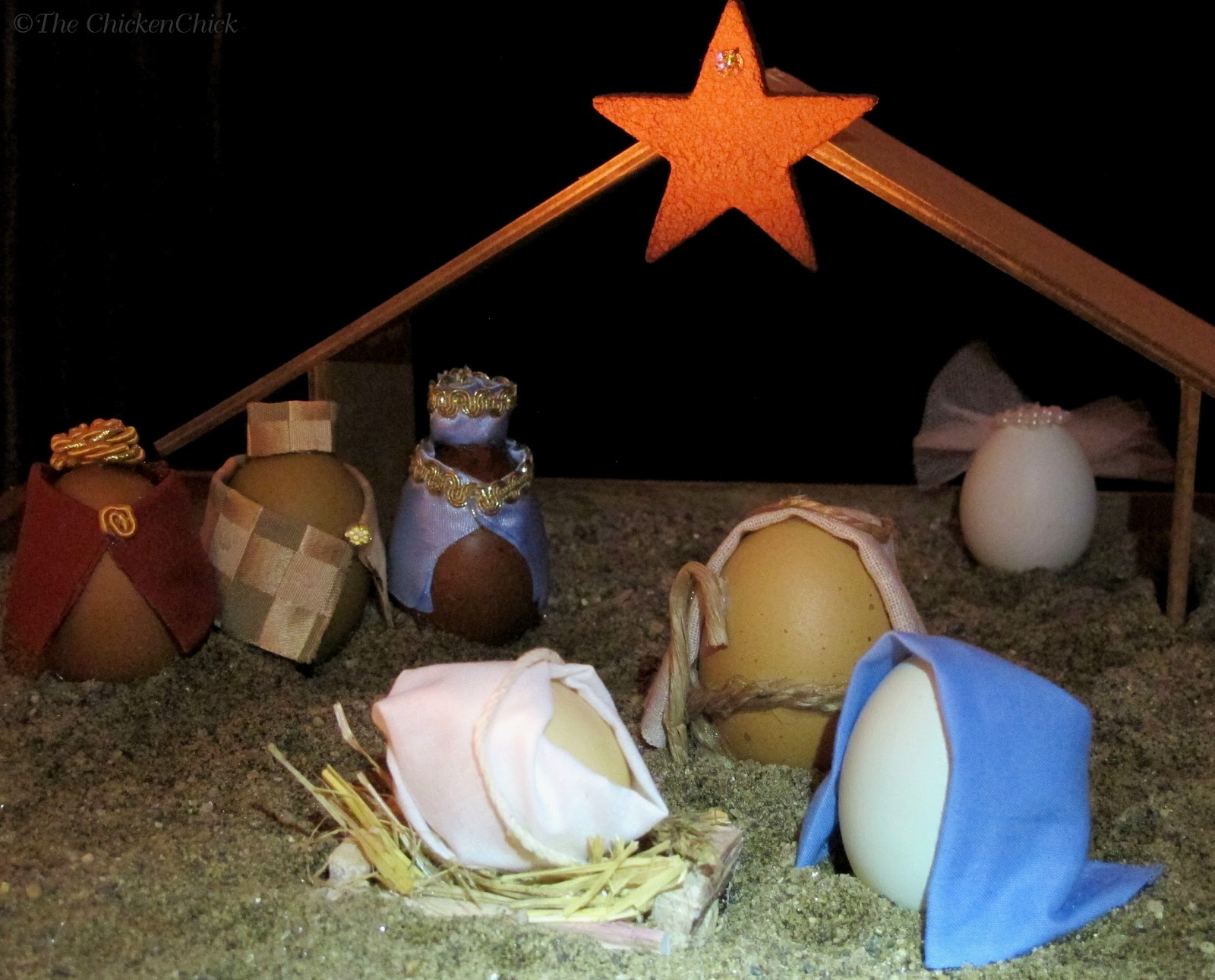 Diy blown egg nativity scene the reason for the season the diy blown egg nativity scene the reason for the season the chicken chick solutioingenieria Choice Image