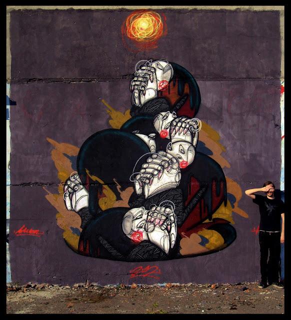 """Prayer Leads To Enlightenment"" a new Mural By Street Artist Nick Viska In Lviv, Ukraine. 1"