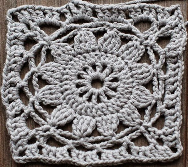 Irina Crochet Finnish Granny Square Step By Step Lesson English
