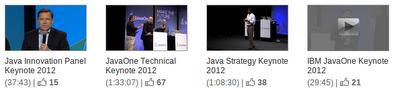 JavaOne 2012 keynotes