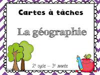 Cartes à tâches sur la géographie