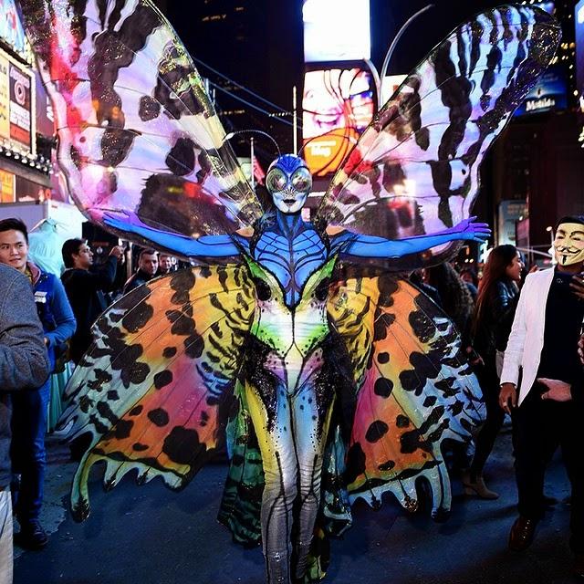 Heidi Klum se disfraza de mariposa