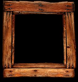 Moldura antiga em madeira -png