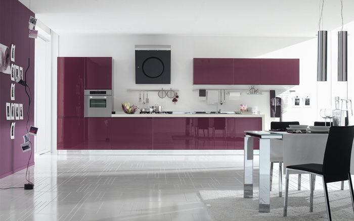 entonces una galería de fotos de cocinas color violeta , morado y
