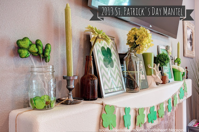 MG 7697 8 9 fused+copy *Dont* Kiss Me, Im only a *1/4* Irish (DIY St Patricks Day Mantel)