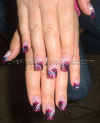 nail designs with lines and dots