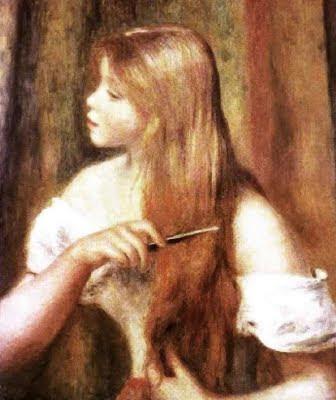 Noia pentinant-se (Pierre Auguste Renoir)