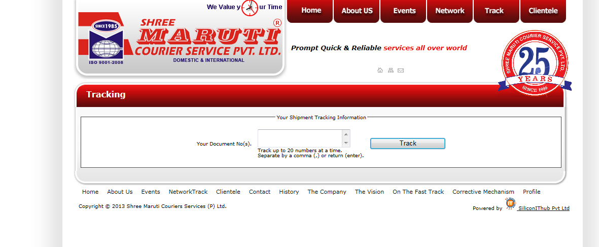 professional courier tracking domestic