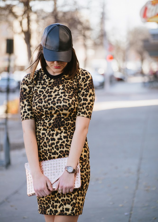 cheetah & leather cap | In good faith, Tess