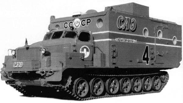 extraños vehículos de nieve de la antigua unión soviétic