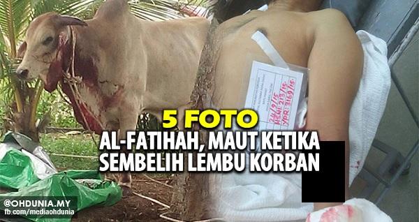 Al Fatihah! Maut terkena parang ketika sembelih lembu korban